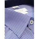 Koszula męska wizytowa niebieska w paski