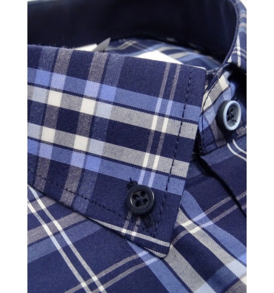 Koszula męska w kratę długi rękaw