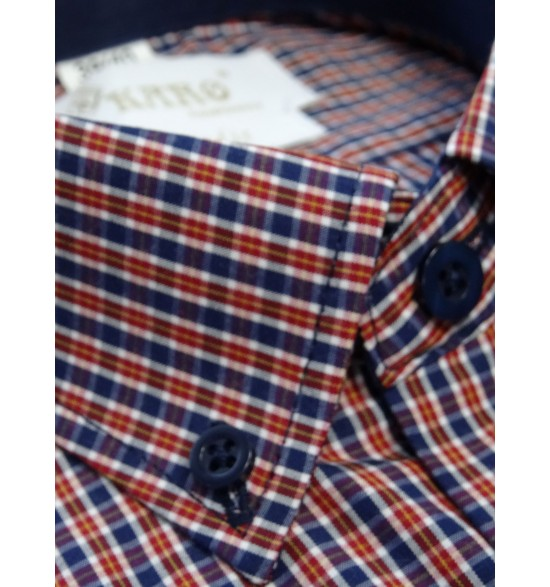 Koszula slim długi rękaw w wzorki