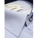 Koszula slim biała w niebieskie kropki