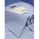 Koszula męska wizytowa błękitna kostka