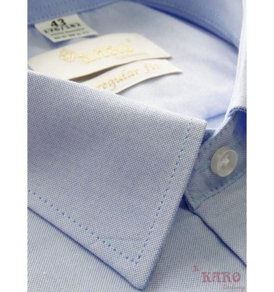 Koszula męska z krótkimi rękawami błękitna oxford