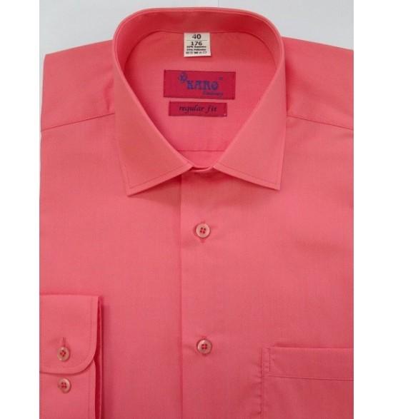 Koszula męska wizytowa koloru koral