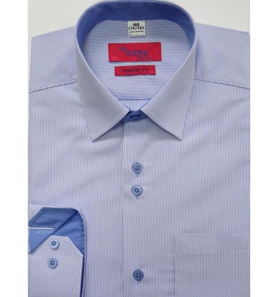 Koszula męska wizytowa biała z paskiem