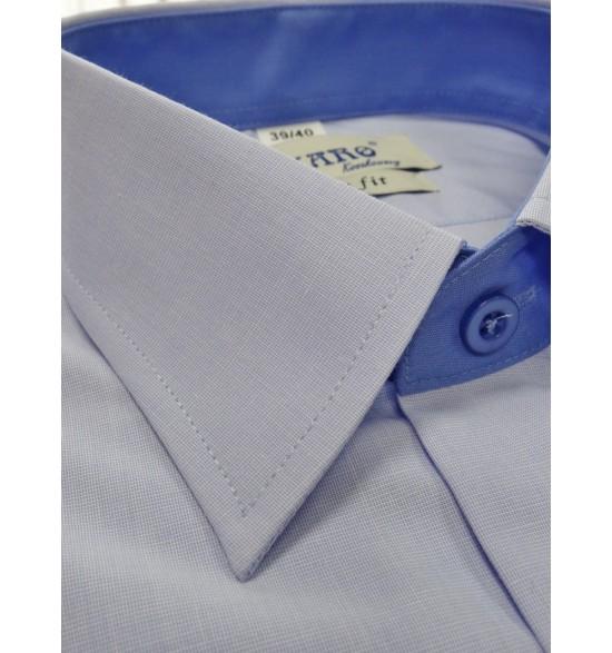 Koszula męska slim niebieska fil