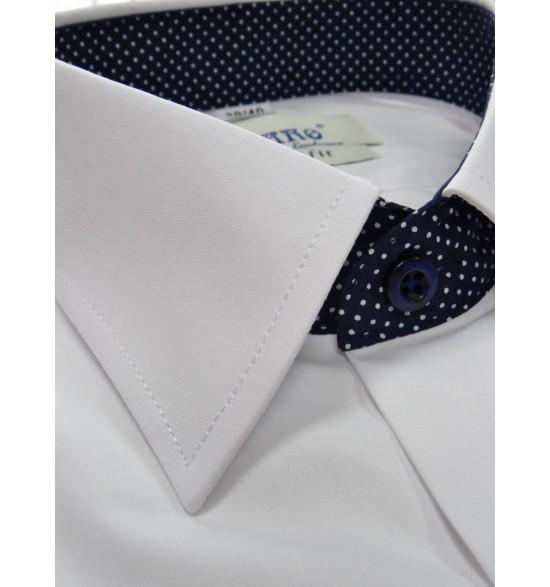 Koszula męska slim biała 100%