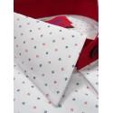 Koszula slim fit krótki rękaw w kropki
