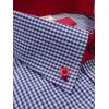 Koszula slim fit krótki rękaw w kratę