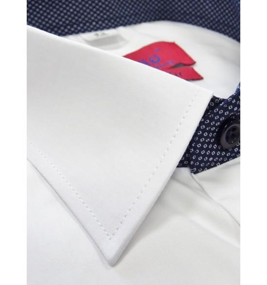 Koszula męska wizytowa biała 100% długi rękaw