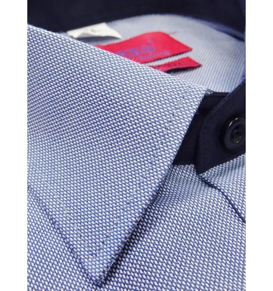 Koszula męska wizytowa niebieska wzór