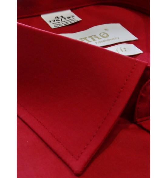 Koszula męska wizytowa kolor czerwony