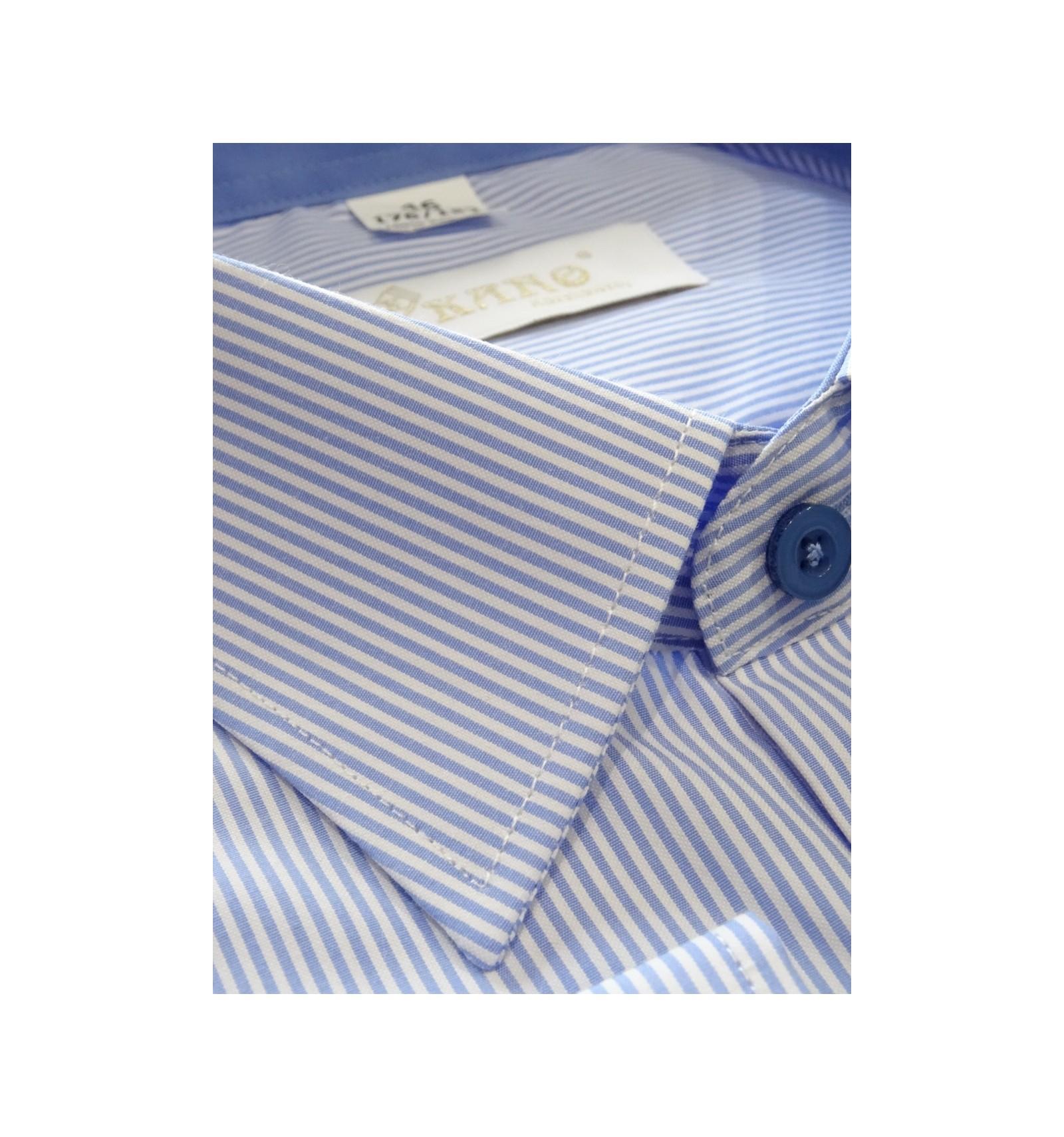 Koszula męska wizytowa niebieska w paski Koszule męskie  jDpot